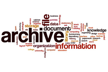 Archive word cloud