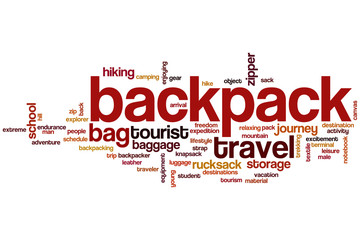 Backpack word cloud