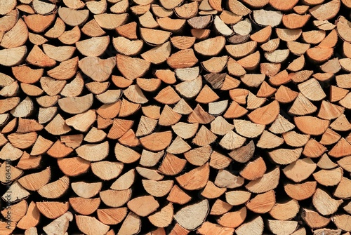 canvas print picture Holzstapel Brennholz
