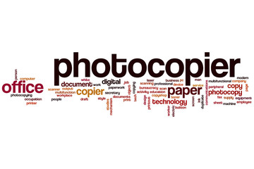 Photocopier word cloud