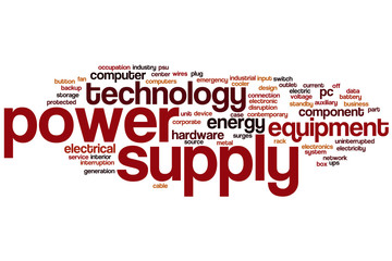 Power supply word cloud