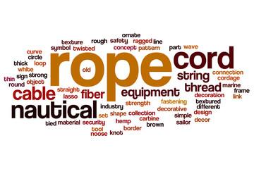 Rope word cloud