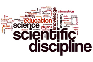 Scientific discipline word cloud