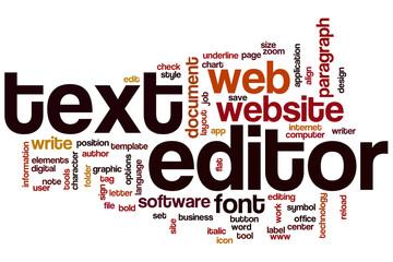 Text editor word cloud