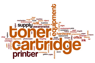 Toner cartridge word cloud