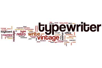 Typewriter word cloud