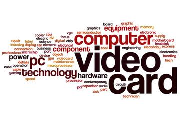 Video card word cloud
