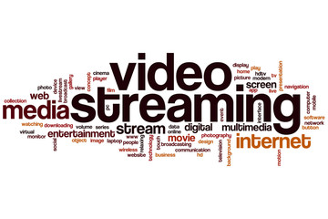 Video streaming word cloud