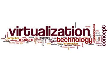 Virtualization word cloud