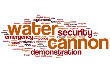 Water cannon word cloud