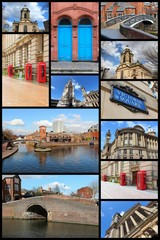 Birmingham. Travel photo collage.
