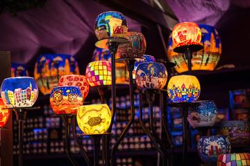 Christmas colorful tea lights