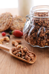 Granola on table