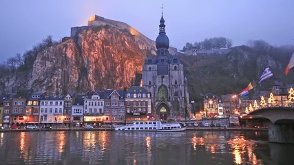 Evening in Dinant, Belgium