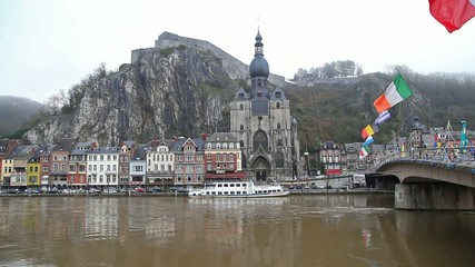 The citadel and church in Dinant