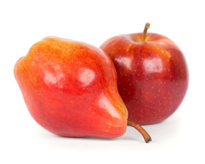 Red  apple and pear