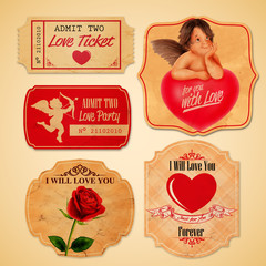 stickers love vintage