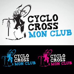 cyclo cross vtt cycliste course velo club logo
