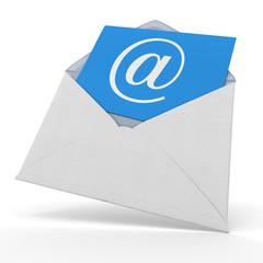 Mail bleu