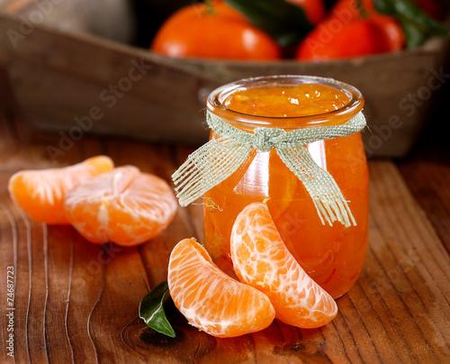 Papiers peints Dessert confettura biologica di mandarino clementina