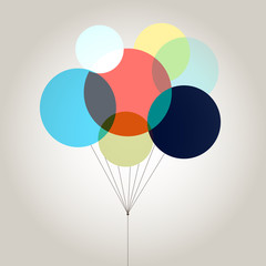 bright colored balloons