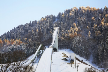 Springboard on Olympic stadium in Garmisch-Partenkirchen