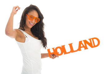 Supporter cheering for Holland
