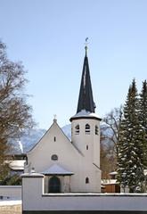 Evangelical Lutheran Church in Garmisch-Partenkirchen. Bavaria