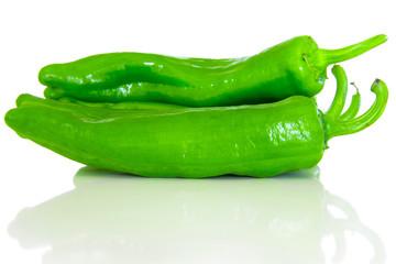Grüne Paprikas