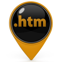 .htm pointer icon on white background