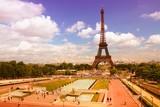 Paris - Trocadero. Filtered color tone.