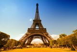 Eiffel Tower. Filtered color tone.