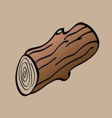 cartoon wood logs