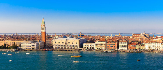 Panorama Piazza San Marco in Venice, view from the top