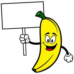 Banana with Sign