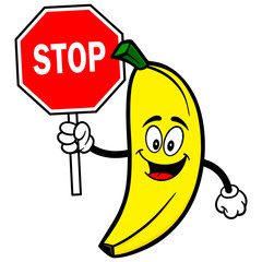 Banana with Stop Sign
