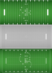 Set of american football field background eps10 vector