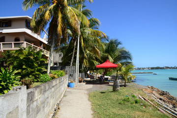 Africa, city of great bay in Mauritius Island