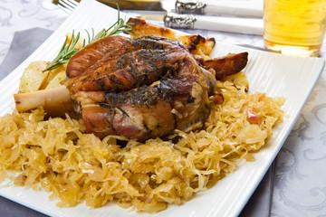 knuckle of pork with sauerkraut