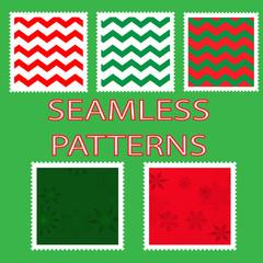 Five Christmas Seamless Patterns