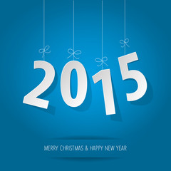 Happy New Year 2015 red blue