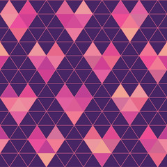 Seamless Pattern - Geometric Hearts - in vector