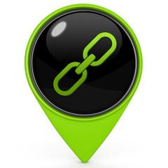 Link pointer icon on white background