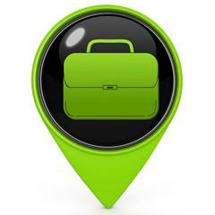 Bag pointer icon on white background