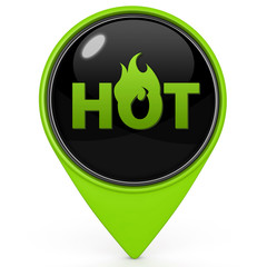 Hot pointer icon on white background