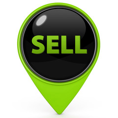 Sell pointer icon on white background