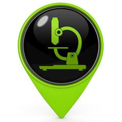 Microscope pointer icon on white background