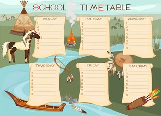 School timetable with Spotted Horse