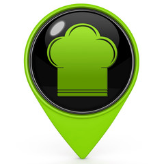 Chef pointer icon on white background