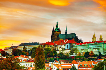 The Prague castle close up